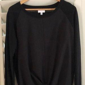 Witchery Black Size Medium Long Sleeve Tie  Blouse